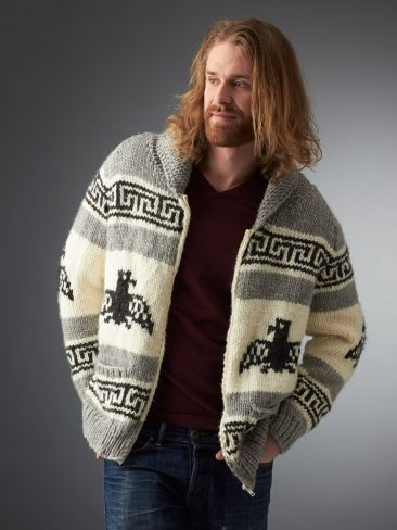 Free Knitting Pattern for I'm the Dude Jacket and more knitting patterns for men