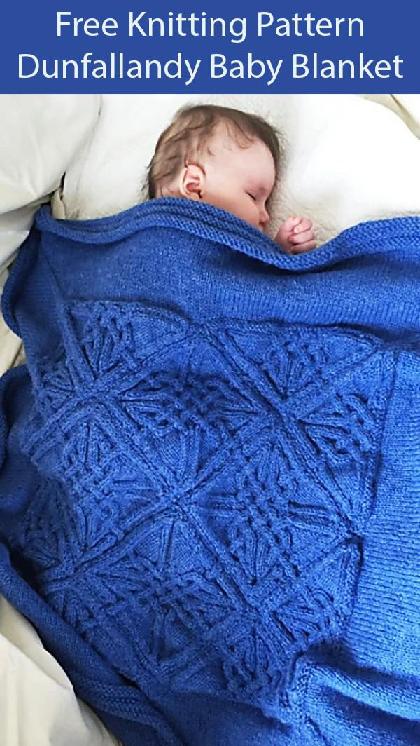 Free Knitting Pattern for Dunfallandy Baby Blanket