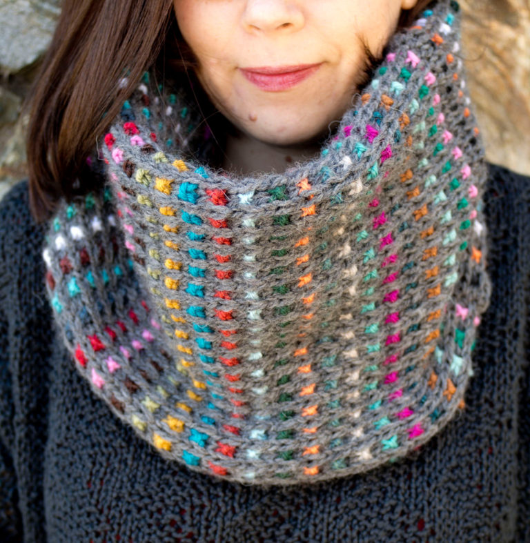 Knitting Pattern for Easy Dunkelbunt Cowl