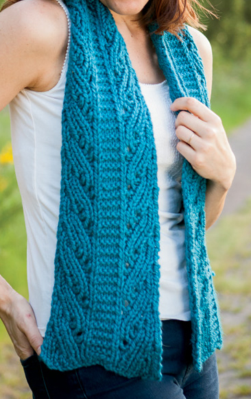 Free Knitting Pattern for Duo Columns Reversible Scarf