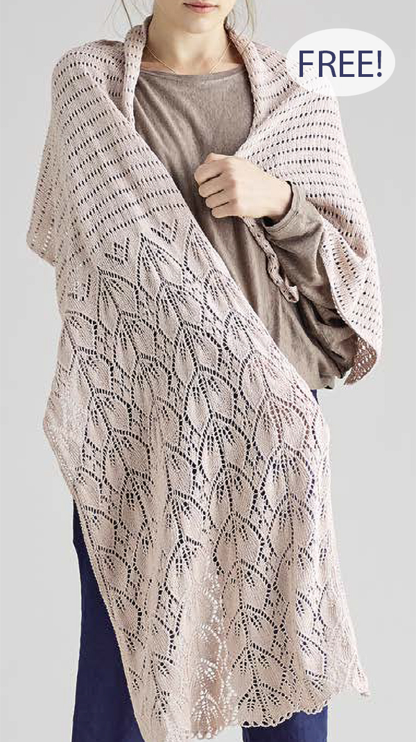 Free Knitting Pattern for Dupion Shawl