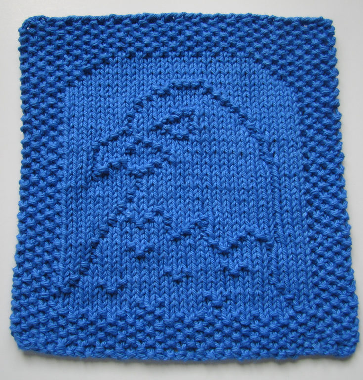 Free Knitting Pattern for Eagle Dish or Wash Cloth