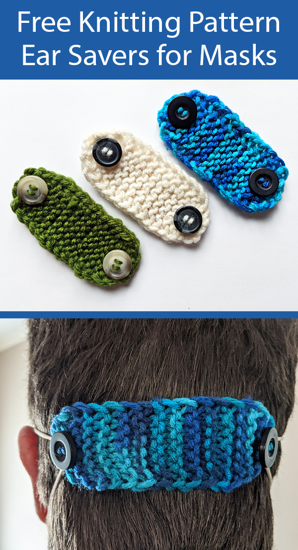 Free Knitting Pattern for Ear Savers for Masks