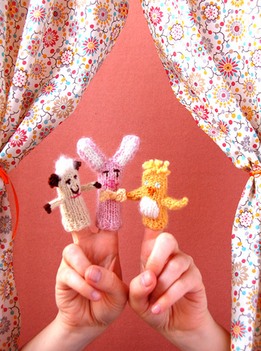 Easter Finger Puppets Free Knitting Pattern | Free Quick Easter Knitting Patterns at http://intheloopknitting.com/free-quick-easter-knitting-patterns