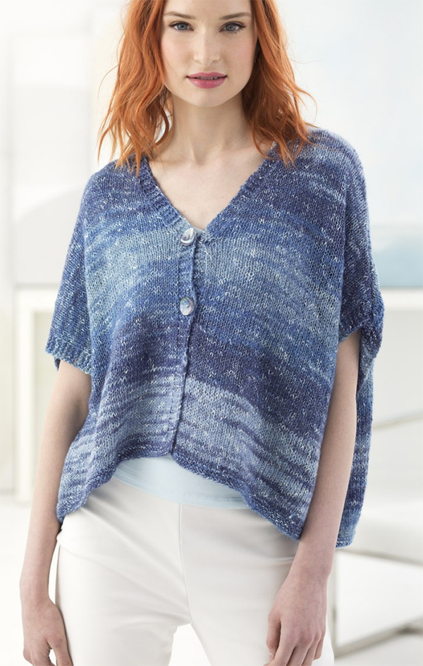 Free Knitting Pattern for Easy Breezy Cardi