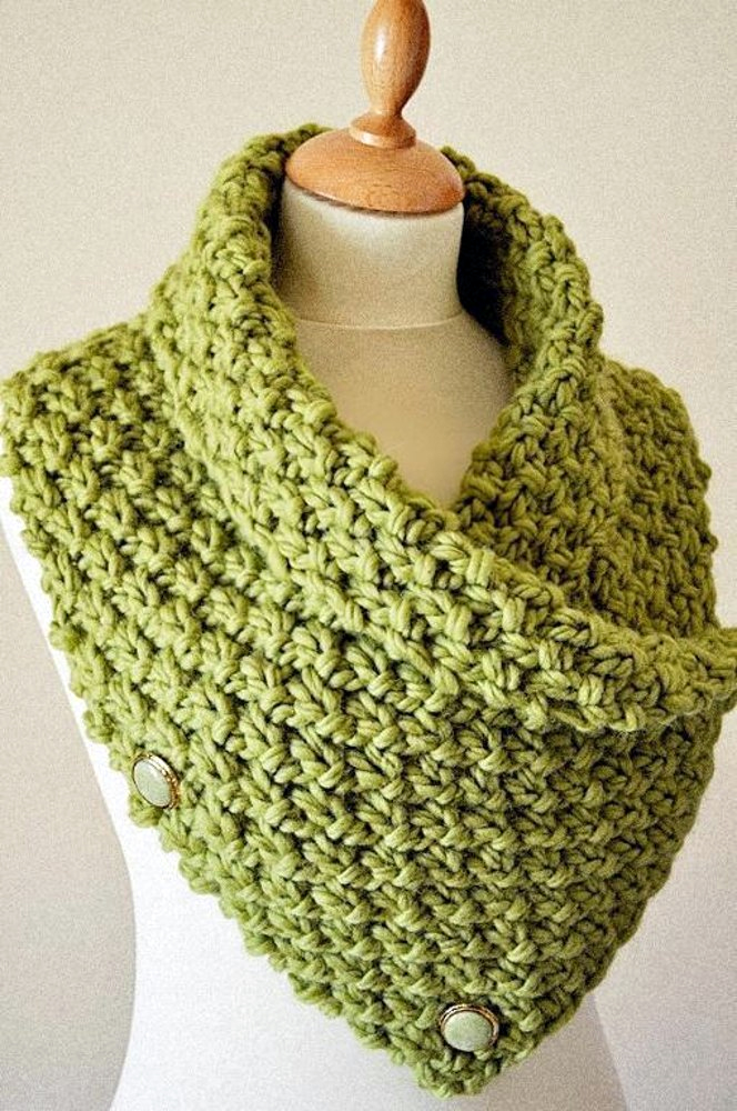 Knitting Pattern for Easy Chunky Knit Neck Warmer/Cowl