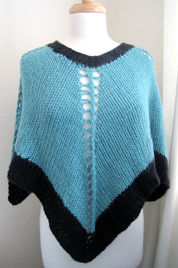 Free Knitting Pattern for Easy-Knit Poncho