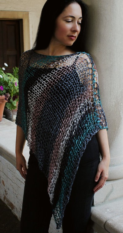 Very Easy Poncho Knitting Pattern