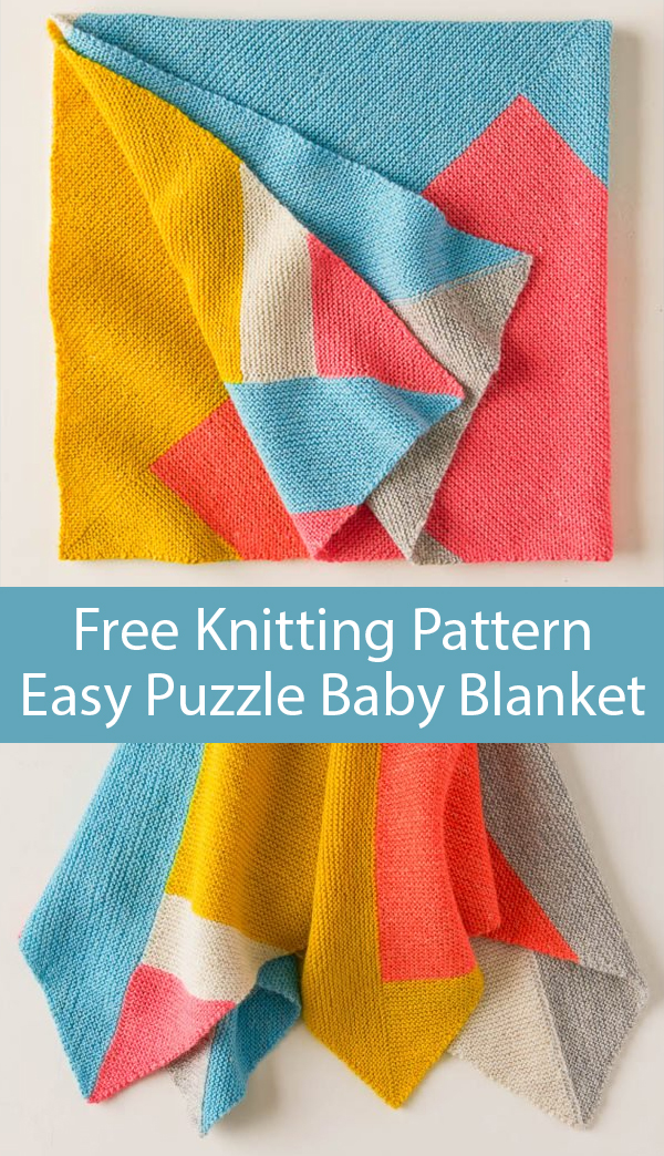 Free Knitting Pattern for Easy Puzzle Baby Blanket