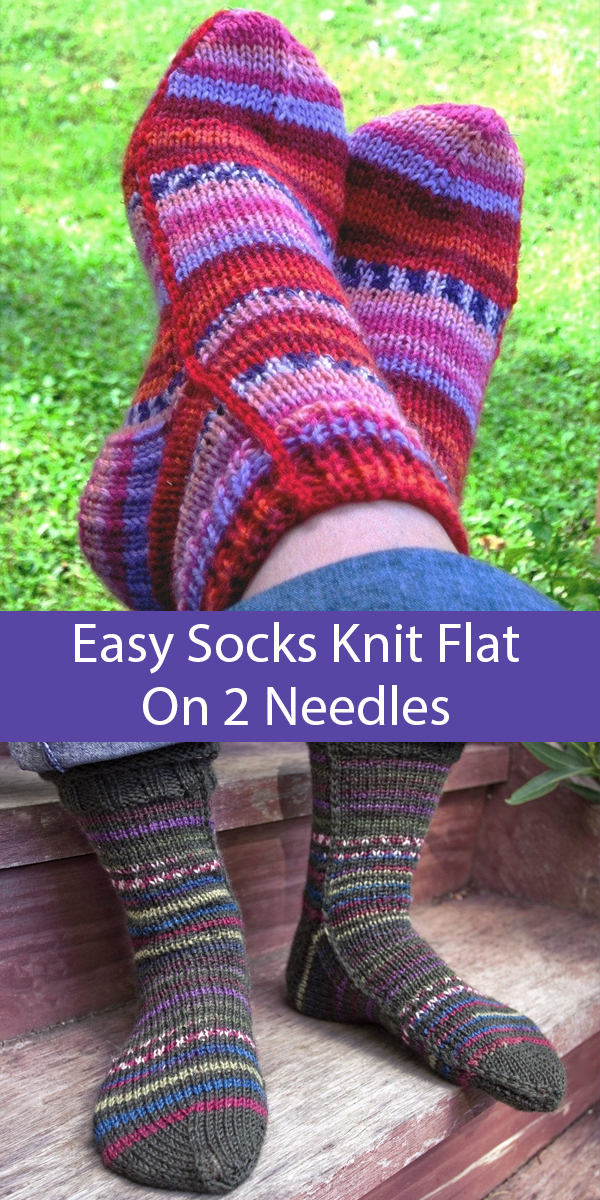 Easy Socks on 2 Needles Knitting Patterns