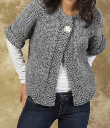 Knitting Pattern for Easy Quick Swing Coat