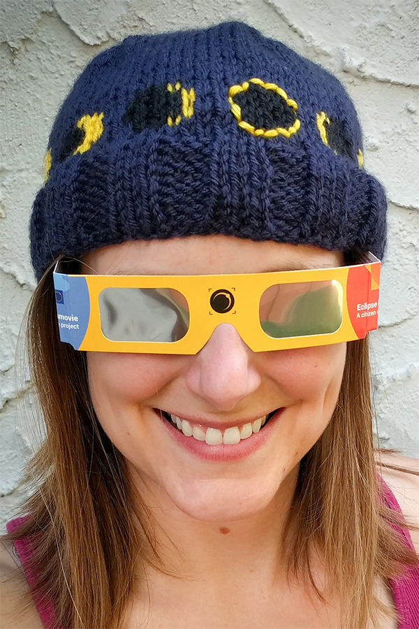 Knitting Pattern for Solar Eclipse Knit Hats