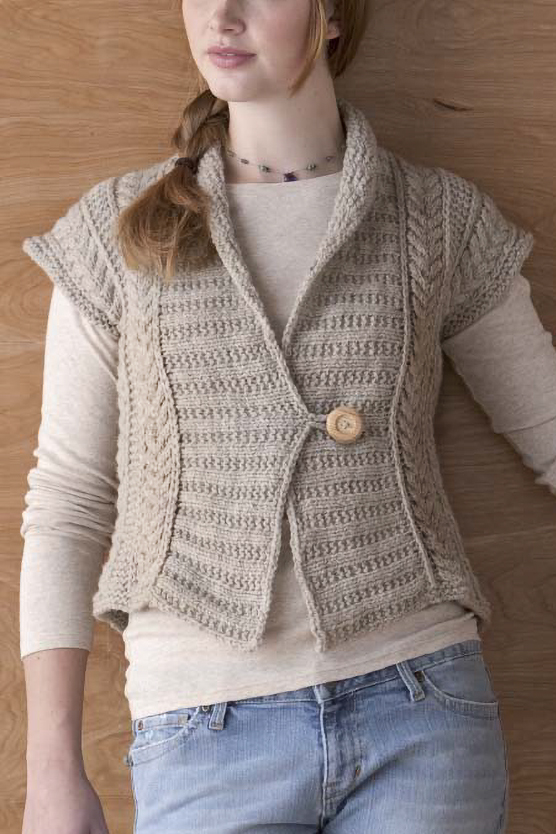 Free Knitting Pattern for Eco Vest