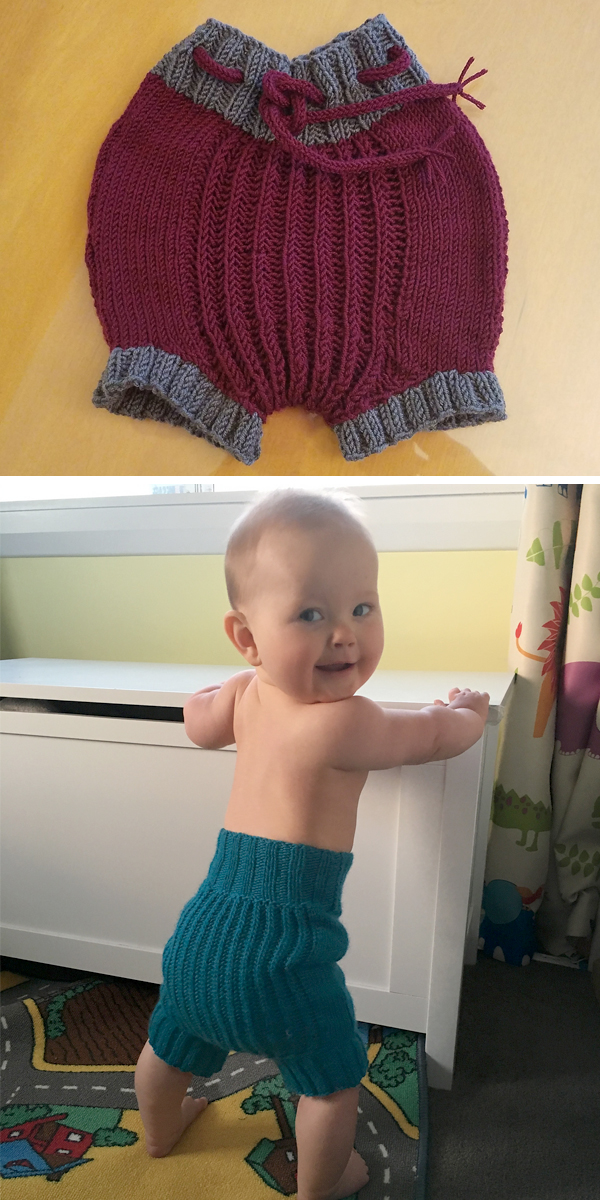 Free Knitting Pattern for Stretchy Baby Soaker