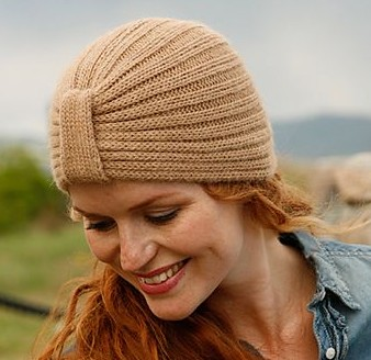 Edith Piaf Turban Hat Free Knitting Pattern
