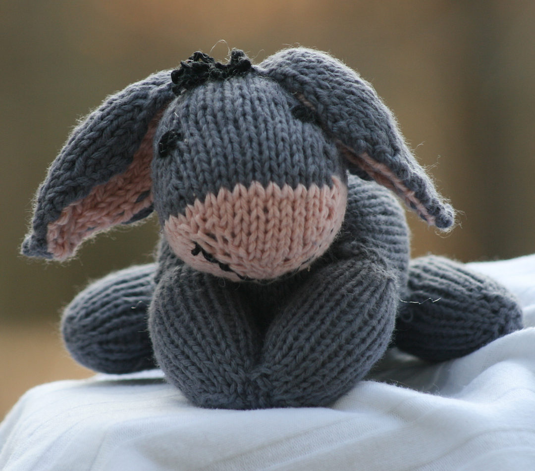 Free Knitting Pattern for Eeyore Toy