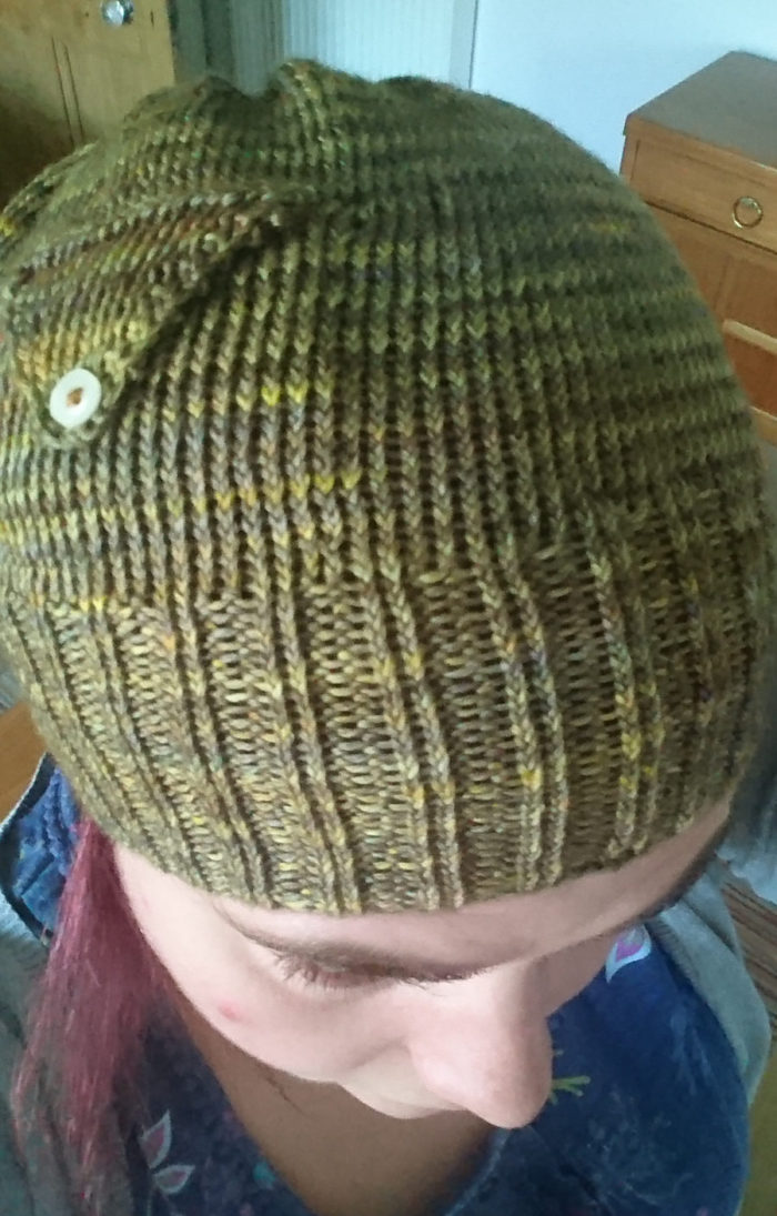 Free Knitting Pattern for Hat with Pocket