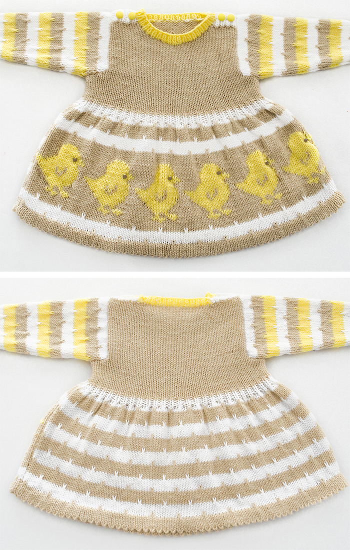 Free Knitting Pattern for Eggy Chicky Dress