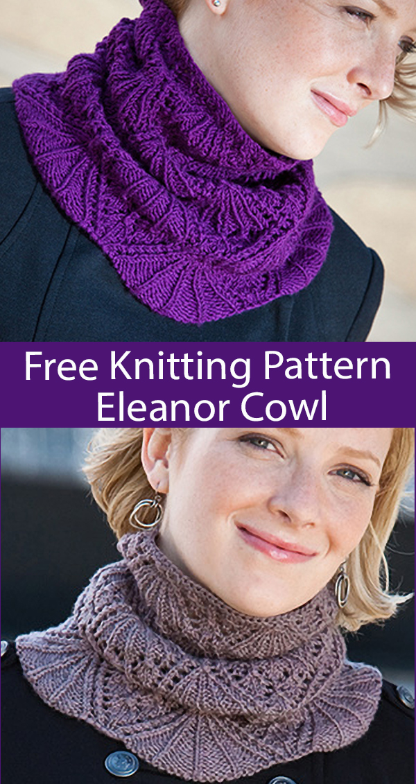 Free Cowl Knitting Pattern Eleanor Cowl