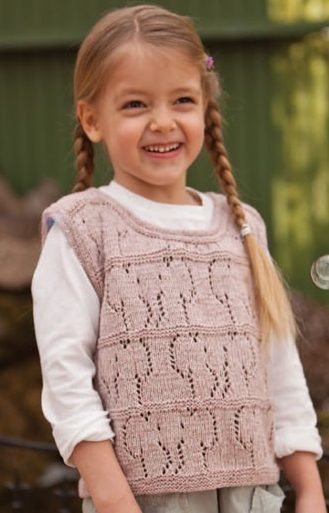 Knitting Pattern for Elephant Lace Vest