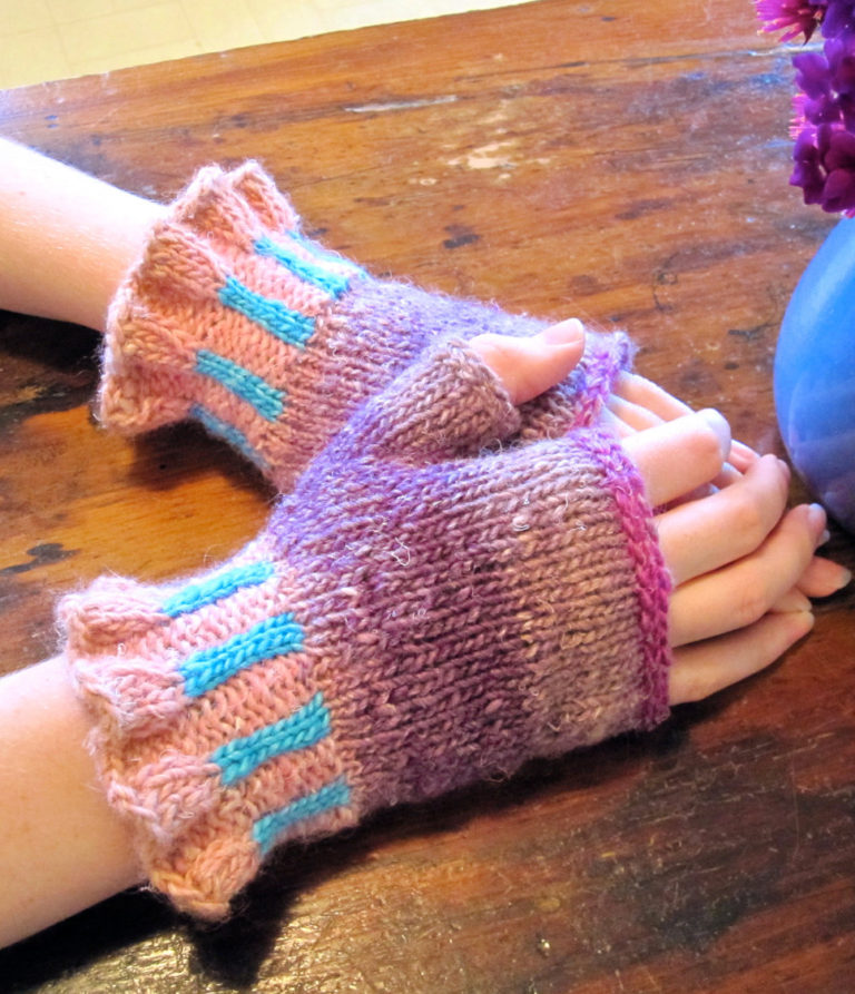 Knitting Pattern for Elinor Fingerless Mitts
