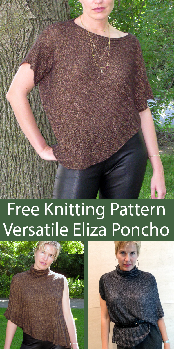 Free Knitting Pattern for Eliza Poncho
