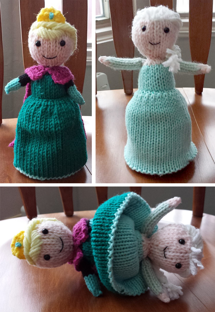 Free Knitting Pattern for Elsa Flip Doll