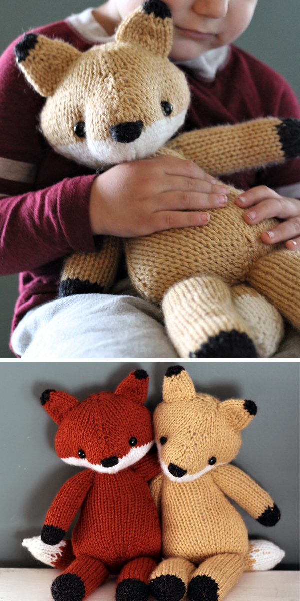 Knitting Pattern for Emerson the Fox