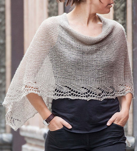 Free Knitting Pattern for Emilia Poncho