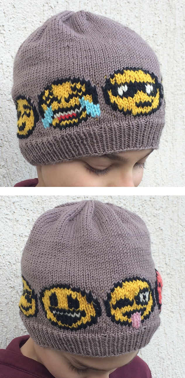 Knitting Pattern for Emoji Hat