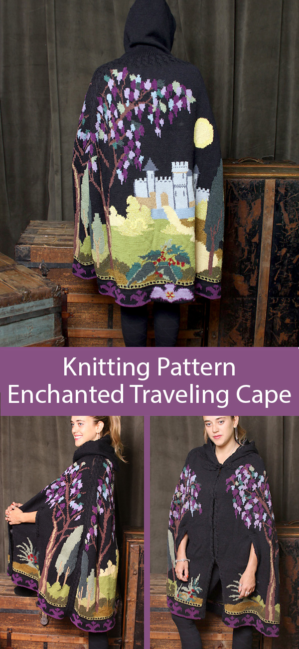 Knitting Pattern for Enchanted Traveling Cape