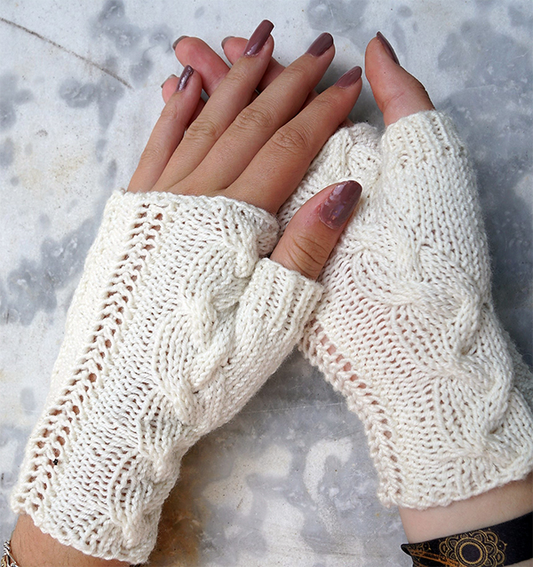 Twisty Mitts Knitting Patterns - In the Loop Knitting