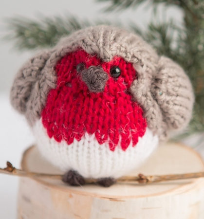 Free Knitting Pattern for English Robin Toy - Free with free Creativebug trial
