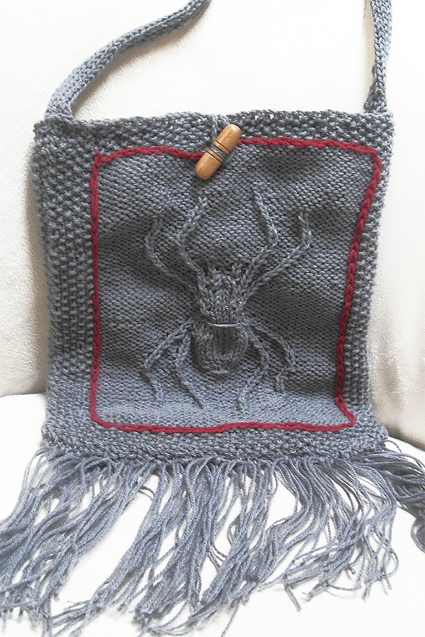 Free Knitting Pattern for Entomology Sling Purse