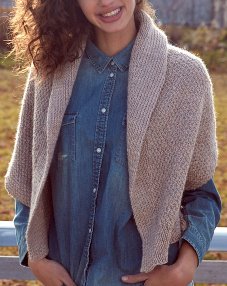 Free Knitting Pattern for Envelope Cardigan