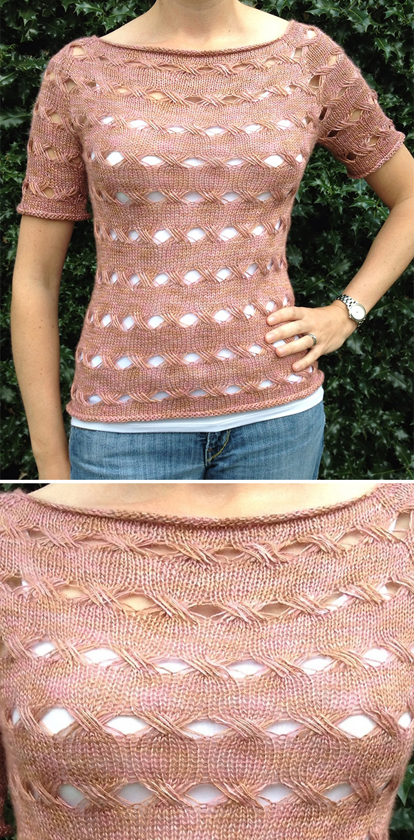 Knitting Pattern for Equation Top