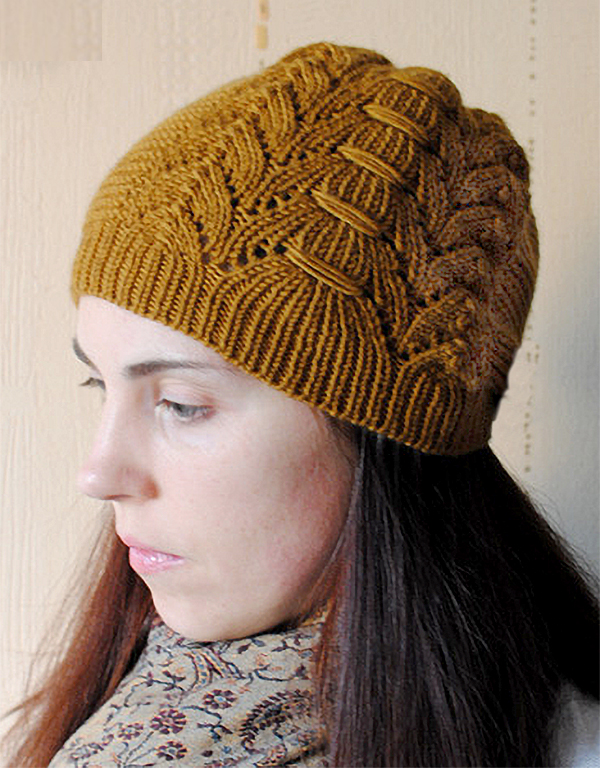 Free Knitting Pattern for Equisetum Beanie Knit Flat