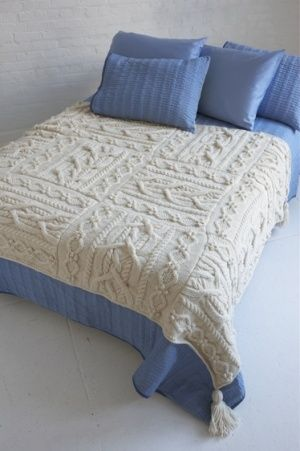Free knitting pattern Erin Afghan and more cable throw knitting patterns