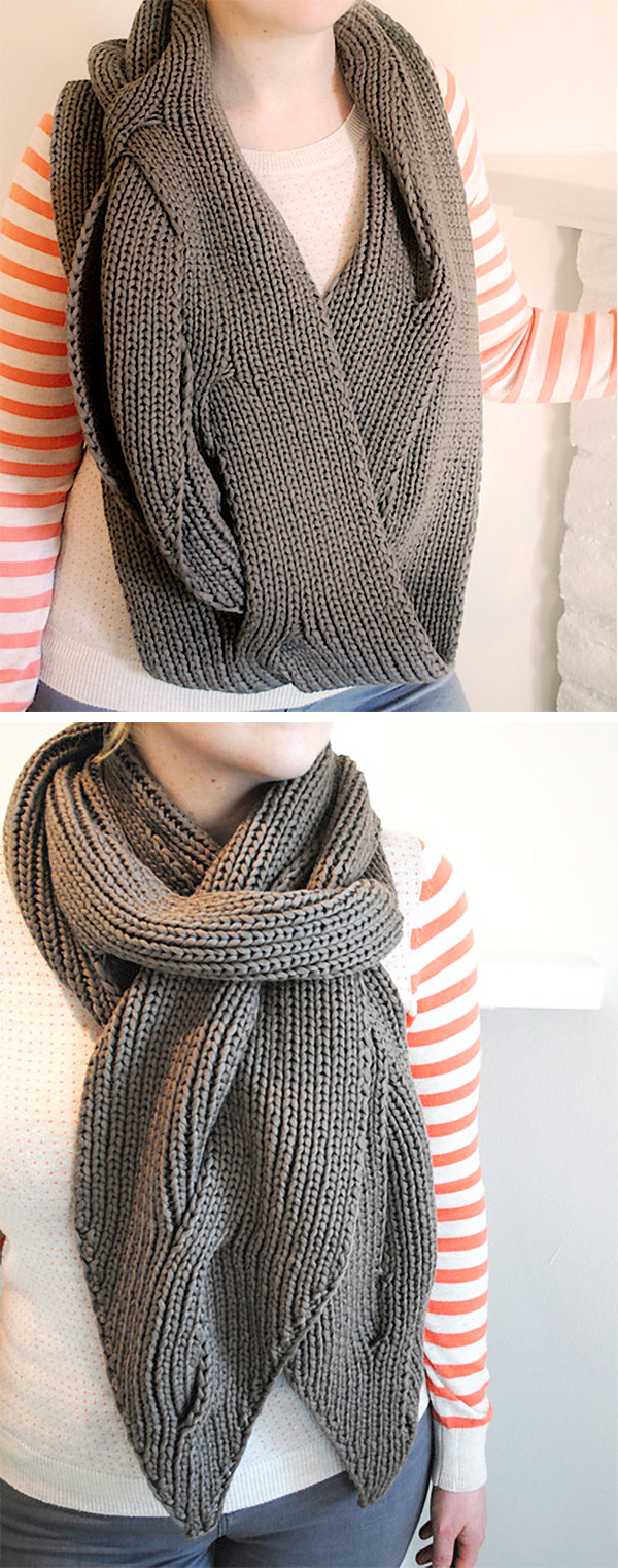 Free Knitting Pattern for Open Cable Scarf