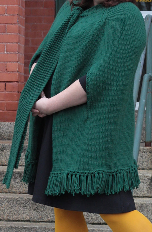 Free Knitting Pattern for Erin Poncho
