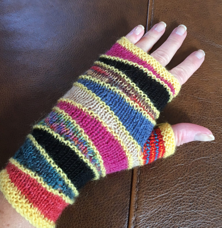 Free Knitting Pattern for Escalator Mitts