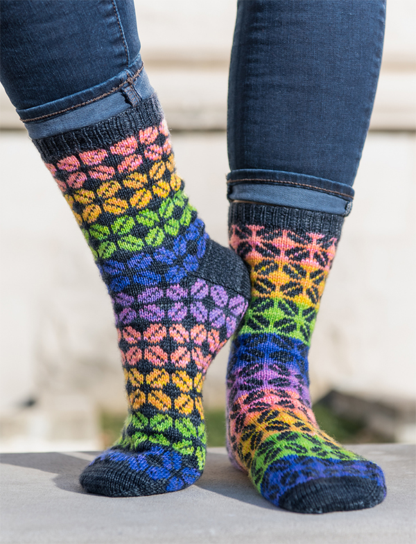 Free Knitting Pattern for Escape Reality Socks