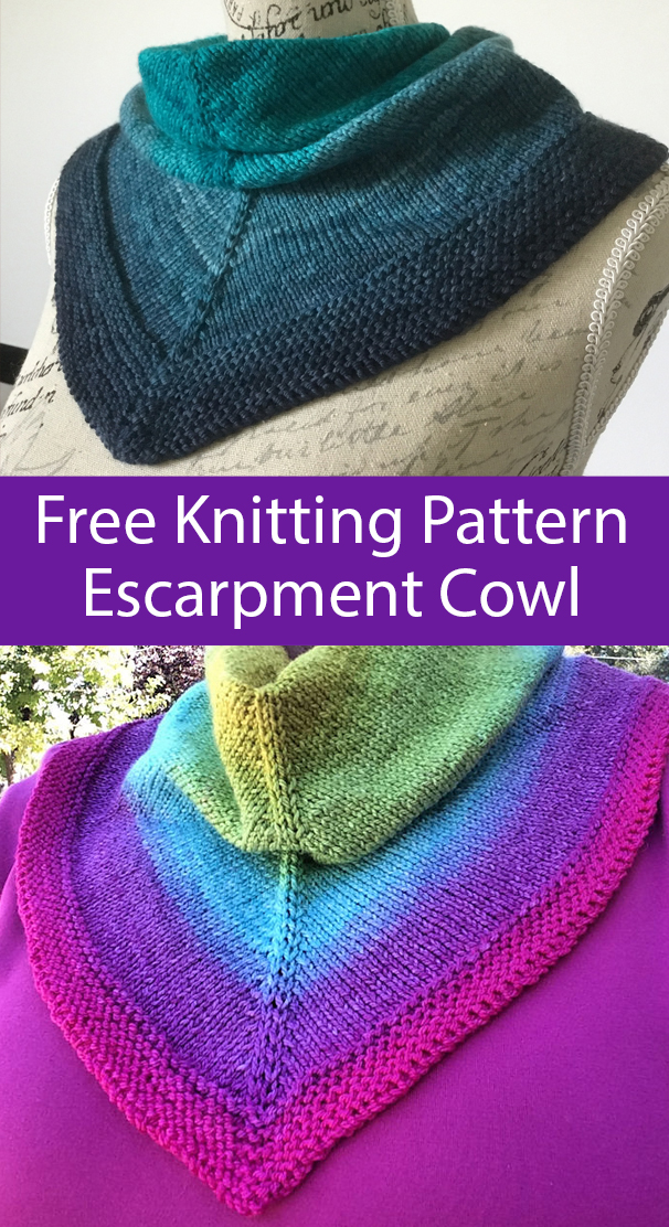 Free Knitting Pattern for Easy Escarpment Cowl