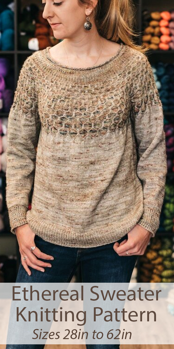 Knitting Pattern for Ethereal Sweatert