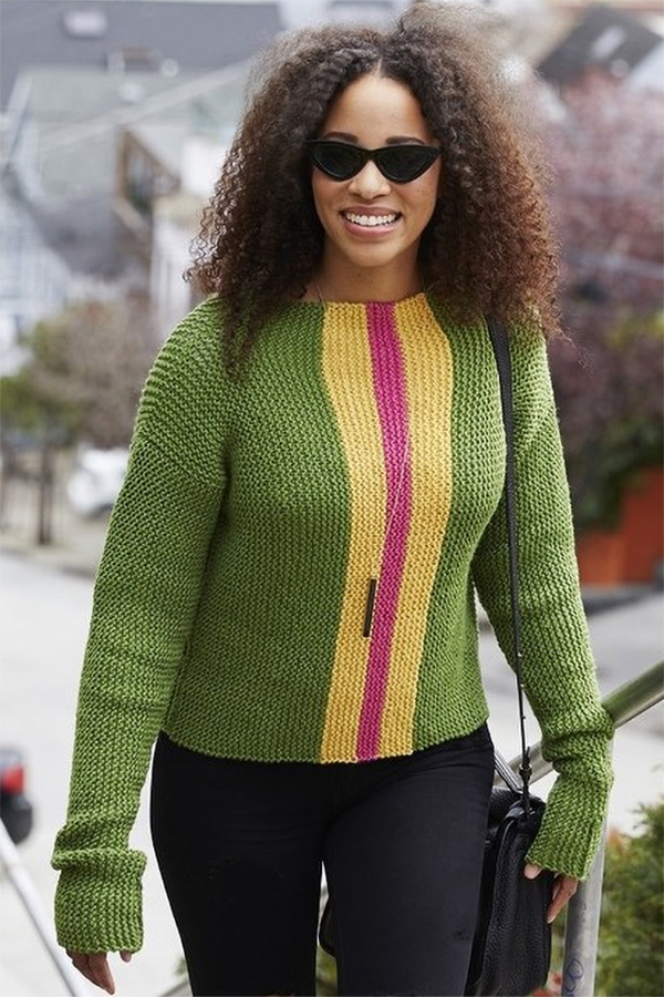 Free Knitting Pattern for Easy Everyday Chic Sweater