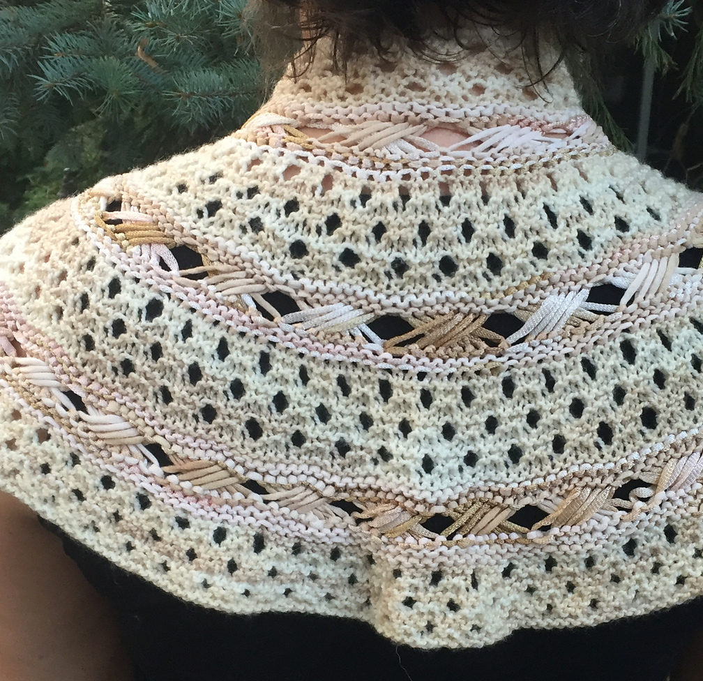 Free Knitting Pattern for Exes and Ohs Shawl