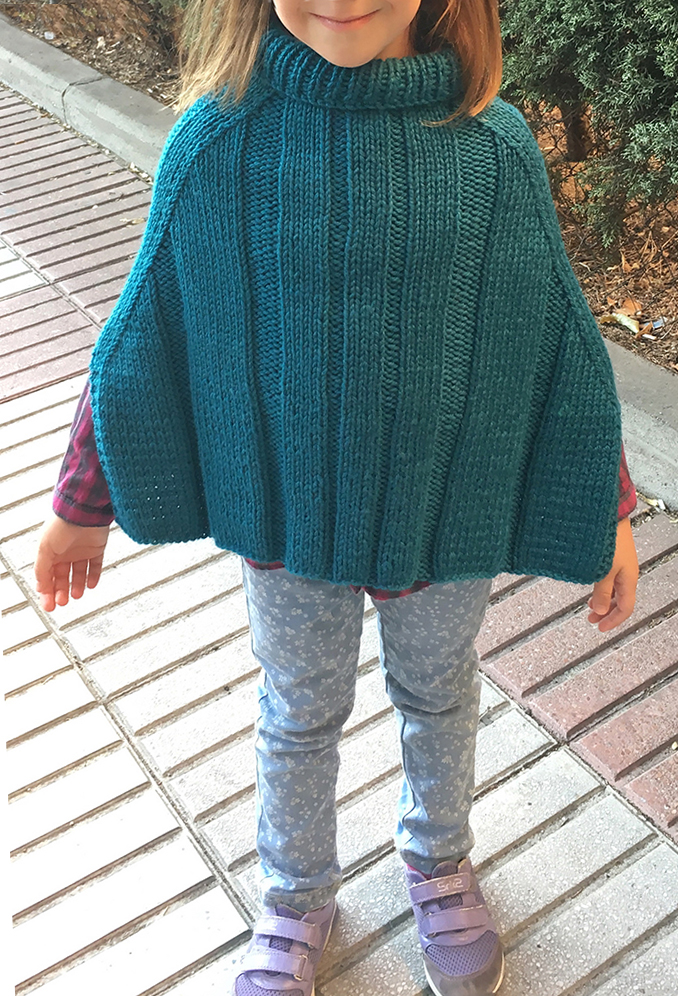 Free Knitting Pattern for Express Poncho