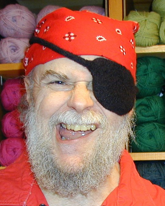 Free knitting pattern for eye patch