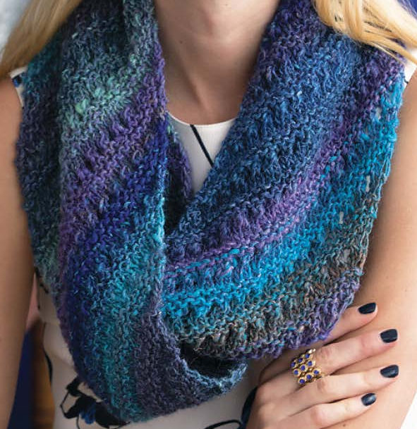 Knitting Pattern for Eyelet Infinity Scarf