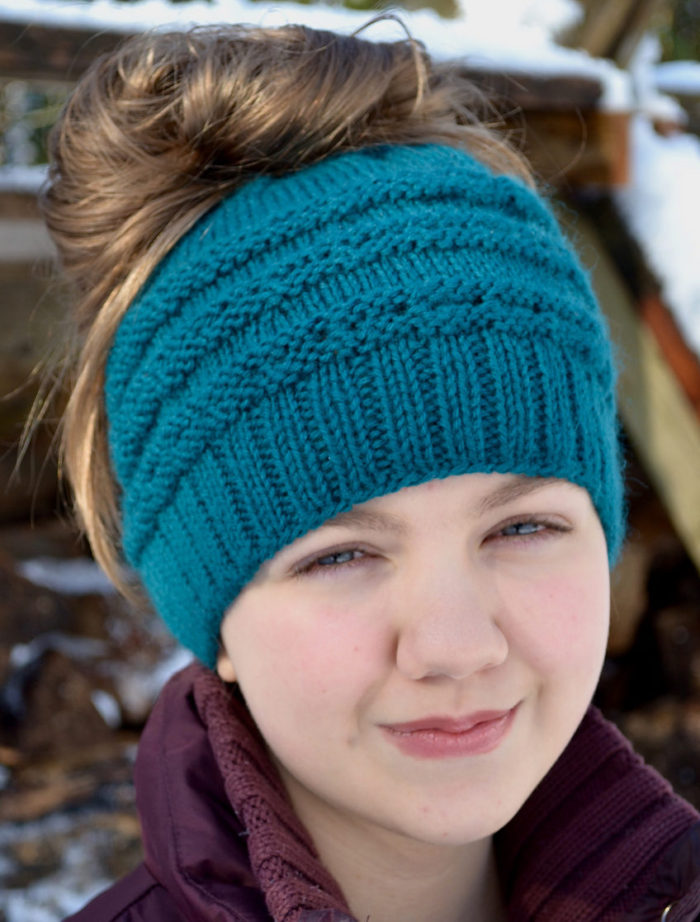 Messy Bun And Ponytail Hat Knitting Patterns In The Loop Knitting Unique Bun Hat Pattern
